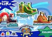 Promociones super toys inflables a pedido el limite es su imaginacion nos destacamos por nuestra cal