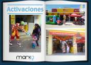 Agencia de publicidad  de activaciones btl (marka marketing and advertising