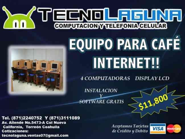 Venta de equipo de computo para café internet en Torreón