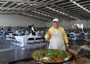 Paella exquisita gourmet para eventos