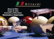 Biliardi, mesas y equipos de precisión.
