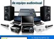 Proyectores y equipo de audio en renta