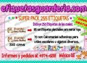 Paquete con 255 etiquetas marcar ropa envio gratis!!!