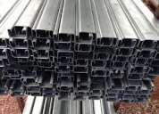 Perfil unicanal galvanizado u-10, u-30 liso y perforado