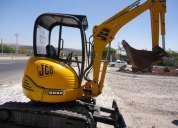 Vendo mini excavadora jcb, 8032zts