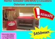Licuadora y horno tostatos seminuevo en mexicali