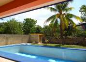 casa amueblada en renta en cholul zona norte cerca altabrisa, 3 recamaras, piscina, jardines
