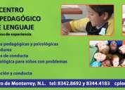 Terapias de lenguaje y apoyo acadÉmico
