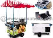 Venta de carrito para hot dogs y hamburguesas mod. inox120