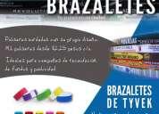 venta de pulseras bordadas y brazaletes de tyvek en tijuana