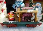 Vendo vagón de tren navideño