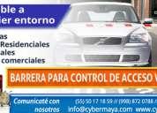 Venta de barrera para control de acceso vehicular.