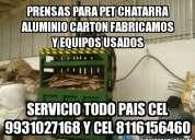 Molinos para pet compactadoras hidraulicas cel 9931027168