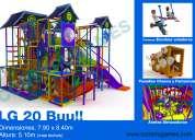 Juegos infantiles para plazas comerciales y salones de fiestas con  resbaladeros gigantes y jump in
