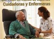 Enfermeras y cuidadores, servicios a domicilio y hospitales
