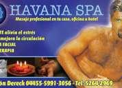 """""""havana-spa"""" el """"spa"""" para hombres servicio profecional de masaje relajante  ant"""
