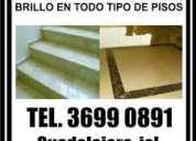 Pulido de encerado de pisos