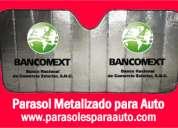 Parasoles metalizados para auto envio a cancun
