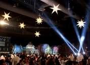 Decoración con estrellas luminosas para eventos