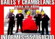 Bailes con 4 chambelanes para xv años