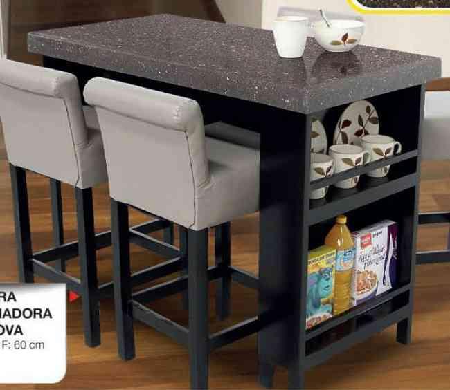 Barra desayunadora con cubierta de granito mod genova for Barra de granito precio