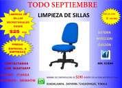 Limpieza de silla secretarial