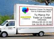 vallas publicitarias moviles 69-20-31-69   camionetas para publicidad df