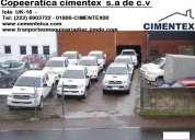 Empresa cimentex pone a la venta flota de camionetas  toyota hilux 4x4