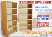 Librero ejecutivo para oficinas y archivo