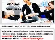 Renta de oficinas fisicas y virtuales  desde $800