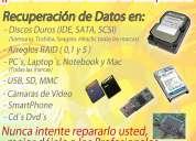 Recuperaciòn de datos de discos duros,