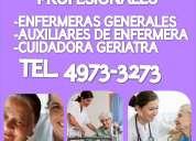 Servicio de enfermeras y cuidadores a domicilio y hospitales