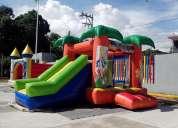 Renta de juegos inflables, trampolines, sonido, decoracion con globos, pintacaritas, payaso