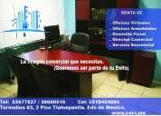 Oficinas en renta con domicilio fiscal desos 800 pesos
