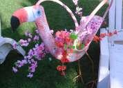 Maceta garza decorativa varios colores