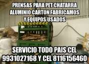 Extruder molinos prensas carton pet cel 9931027168