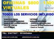 Renta de oficinas  con  servicio de correspondencia , llamadas  y atenciÓn a cliente