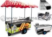 Carrito para hot dogs y hamburguesas mod. inox-190
