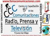 Curso profesional de radio, tv y prensa