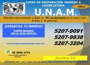 Curso de ingreso a licenciatura u.n.a.m