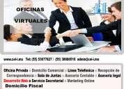 Renta de oficinas virtuales con servicios increÍbles contactanos