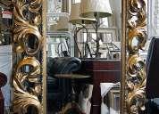 Hermosas reproducciones en espejos barrocos.