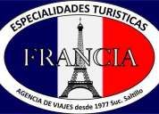 Agencia de viajes especialidades turísticas francia
