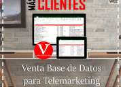 Venta base de datos call center telemarketing