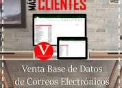 Venta base de datos correos electronicos