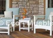 Venta de muebles de plástico, camas, camastros, sillas, sillones, botes y decks