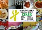 Banquetes para eventos cesar
