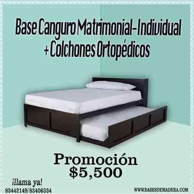 cama canguro matrimonial individual monterrey