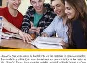 Asesoría y regularización en lógica, ética, ciencias sociales (prepa) en xalapa