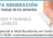 """Cubrebocas de plastico transparentes de """" larga duracion """""""